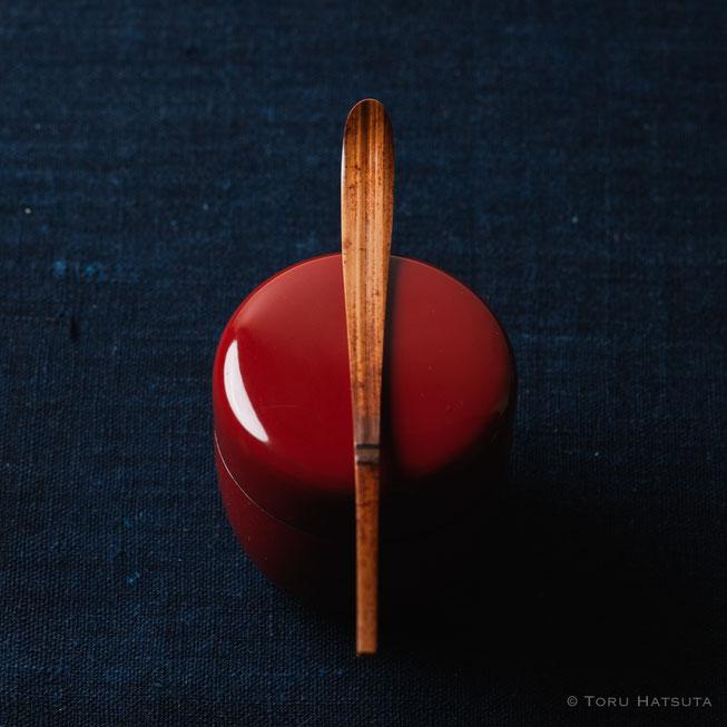 『煤竹旅茶杓.J』点前の際の目線のイメージで