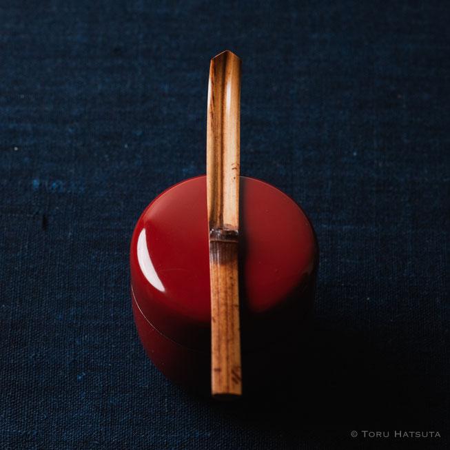 『煤竹旅茶杓.D』点前の際の目線のイメージで