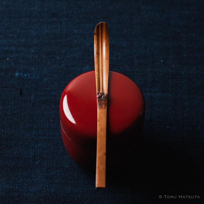 『煤竹旅茶杓.S』点前の際の目線のイメージで