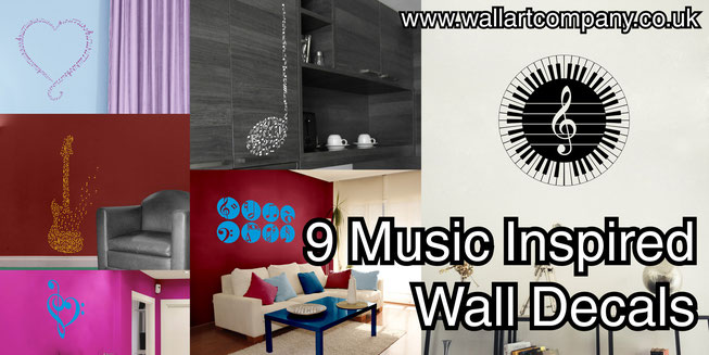 9 Music Inspired Wall Decals from www.wallartcompany.co.uk