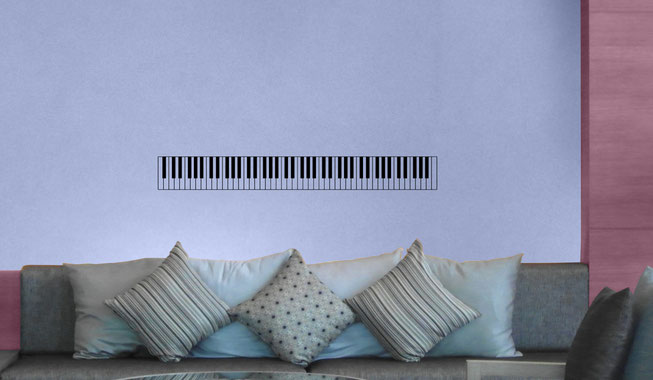 88 Key Piano vinyl wall art decal from www.wallartcompany.co.uk