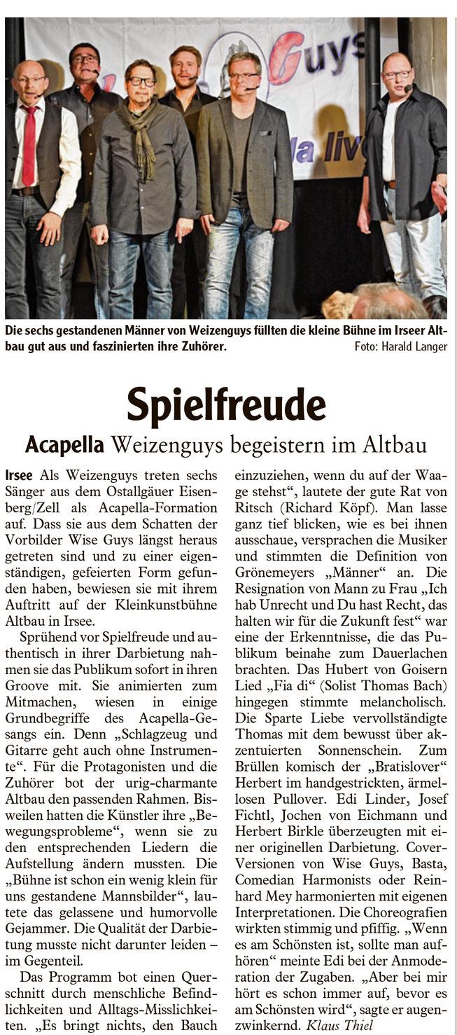 Kleinkunstverein Altbau e.V. - Weizenguys Pressekritik