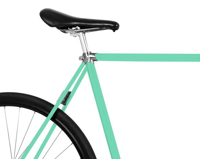 Bild: Folie Fahrrad mint