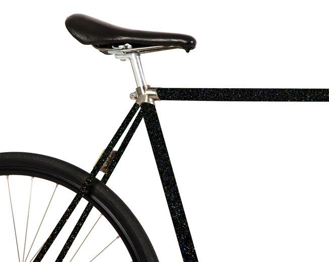 Bild: Folie Fahrrad schwarz matt