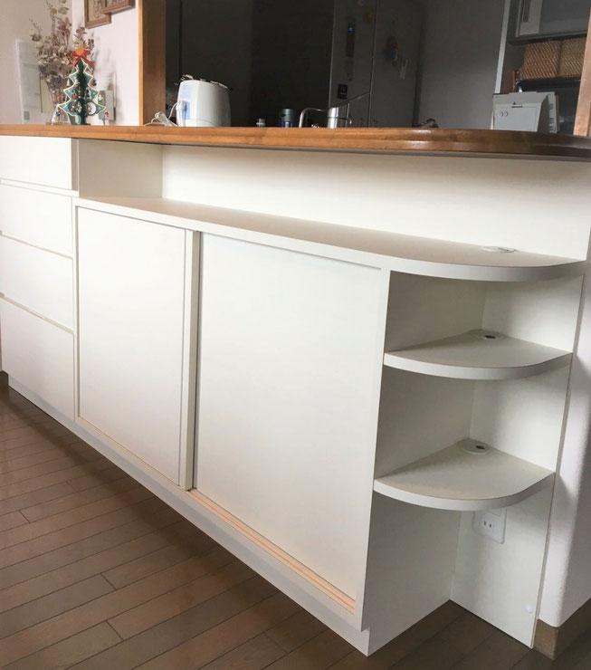 キッチンカウンター下収納 収納 飾棚
