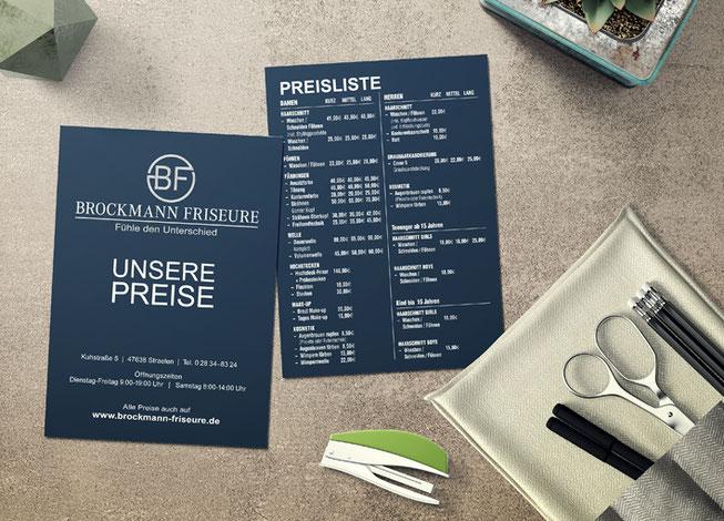 Neues Logo und Printprodukte für Friseur Brockmann aus Straelen.