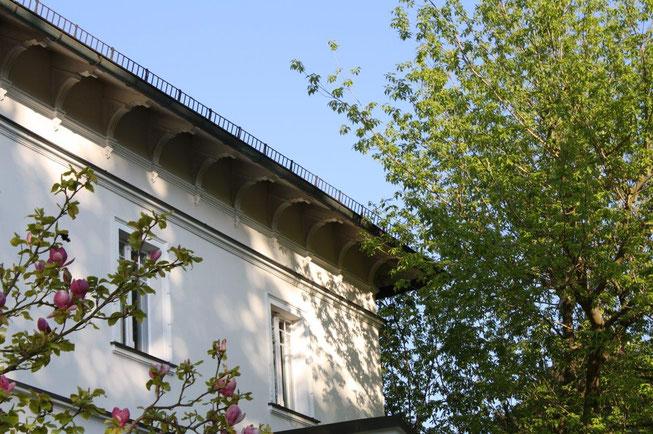 Potsdam Berliner Vorstadt Villengegend beste Wohngegend Wohnhaus Einfamilienhaus Altbau Villa Dach Dachüberstand