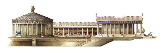 tholos, abaton e tempio