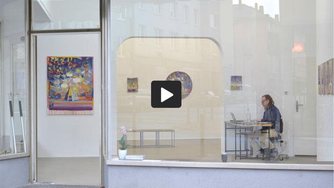 """Ausstellungsrundgang  """"Menagerie"""", Galerie Greulich, Frankfurt/Main, 2020"""