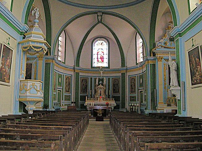 Intérieur de l'église Saint-Gengoult et son décor de style baroque (c) Municipalité de LVLB