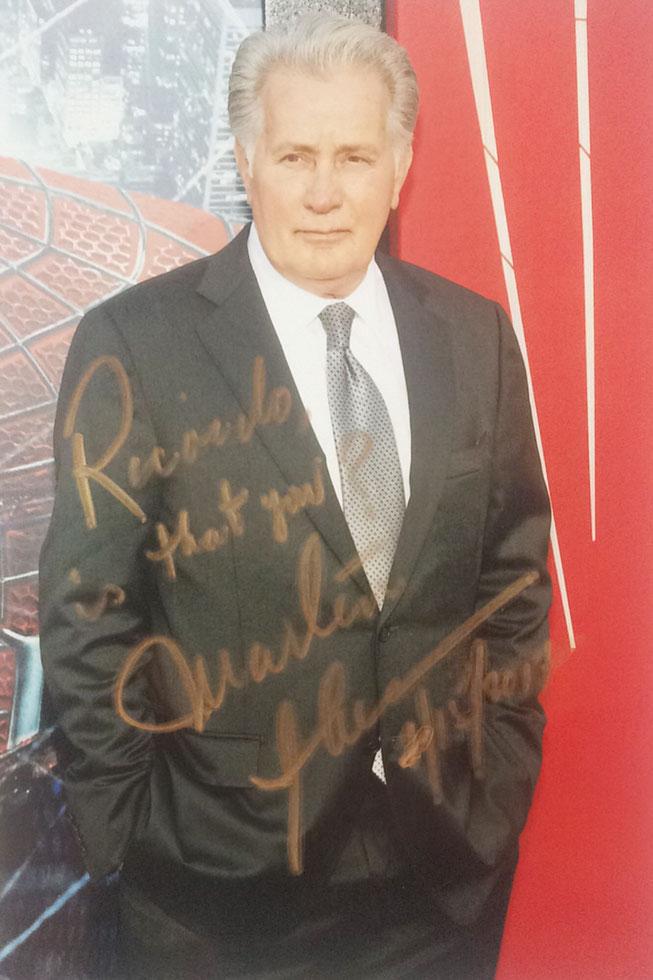 Autograph Martin Sheen Autogramm