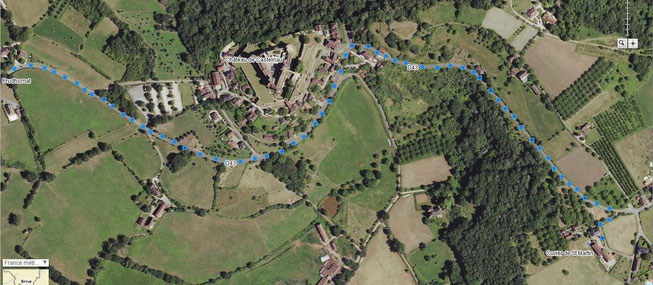 Plan d'accès Cuvier de St Martin