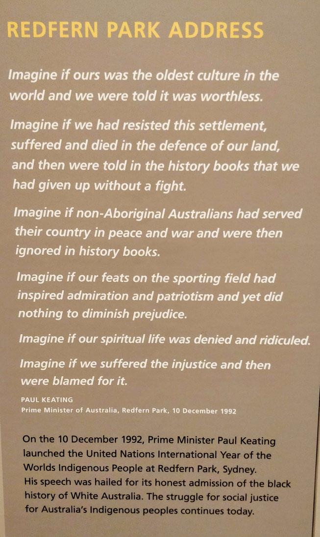 Discours du PM Paul Keating - 10 décembre 1992