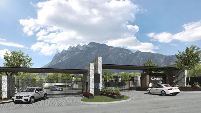 portico de acceso cumbres lux, dominio cumbres, Residencias en zona cumbres