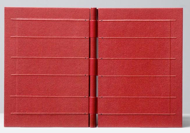 reliure à charnières ajourées -  Christian Dotremont - design bookbinding leather paper