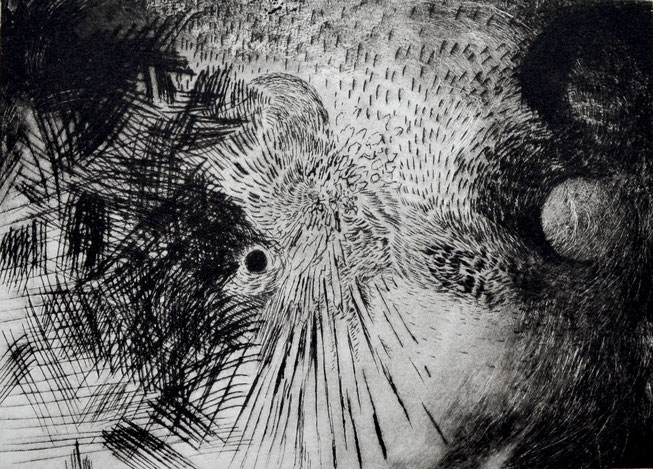 Rungen. 15 x 21 cm. Engraving print on paper. 2018