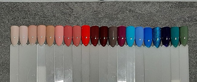 Nos différentes couleurs de vernis