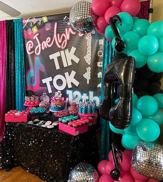 fiesta tematica de tik tok