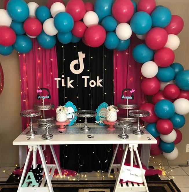 ideas para fiesta de tik tok