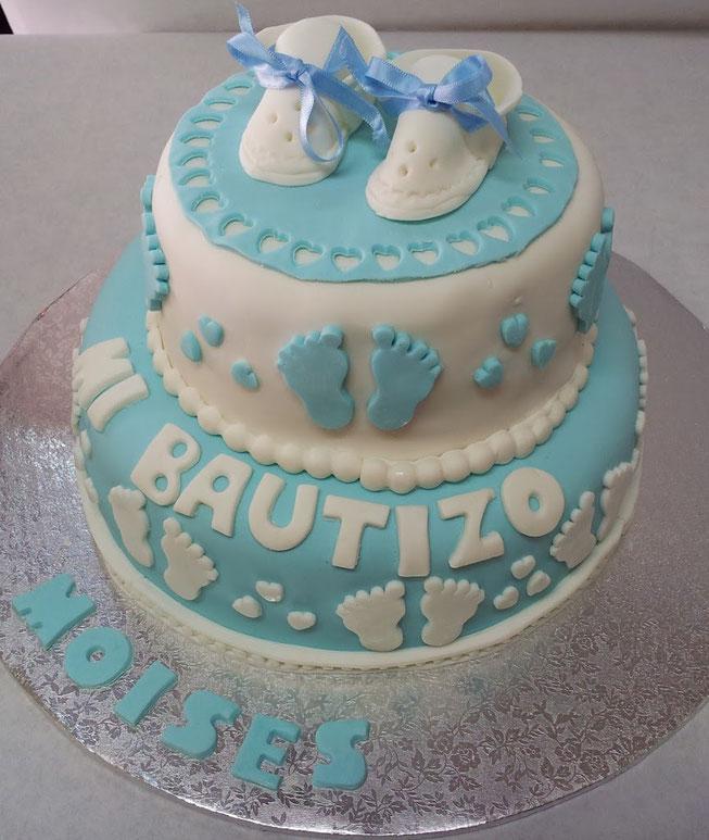 pastel de bautizo de niño