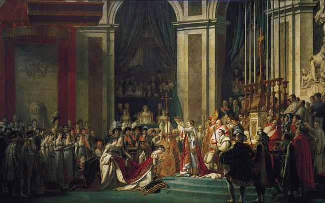 """Jacques Louis David, """"Incoronazione di Napoleone"""" (1806-1807)"""