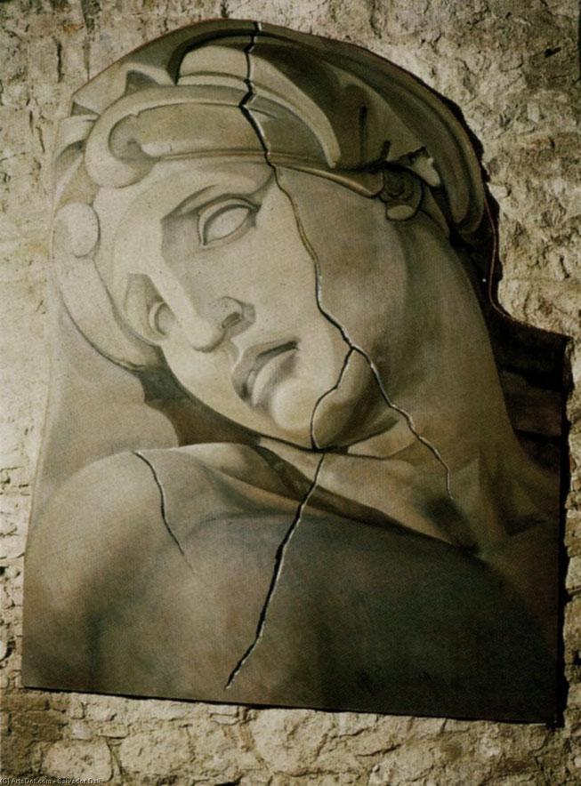 """Salvador Dalì, """"Testa dell'aurora di michelangelo"""" (1977)"""