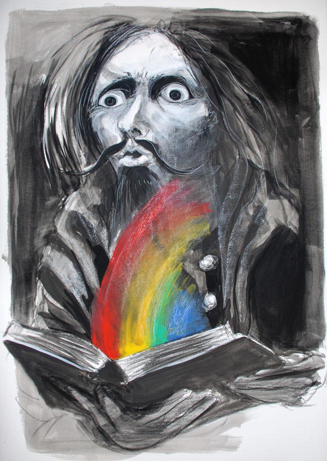 Don Quijote - どんきほぉて- grafik mit Regenbogen