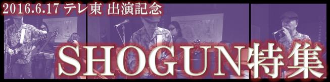 2016.6.17「SHOGUN」テレビ東京出演記念のバナー画像