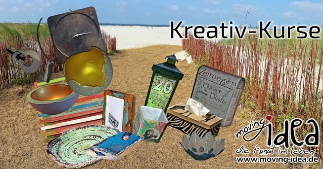 Kreativ-Tag mit Shabby Chic, Beton gießen und Decoupage