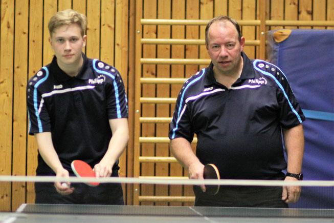 Leon Fankhänel (l.) und Michael konnten die Niederlage in Gelsenkirchen trotz starker Leistung nicht verhindern.