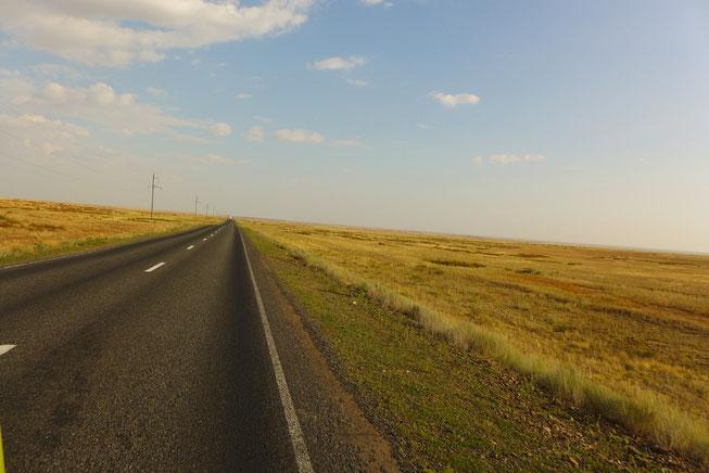 Robur Wohnmobil in Kazachstan Weltreise