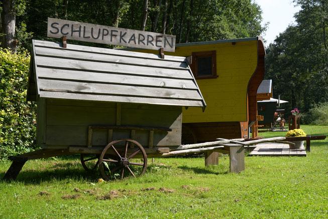 Schäferwagen Hotel Gelände Langholzwagen