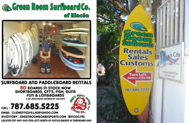 green, room, rincon, surf, rentals