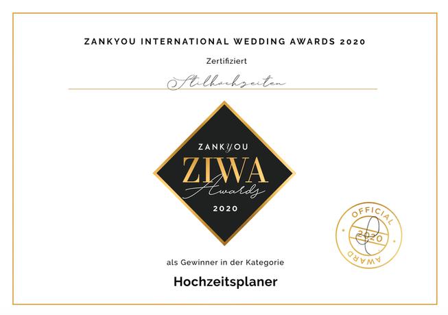 zank you award logo ausgezeichent stilhochzeiten