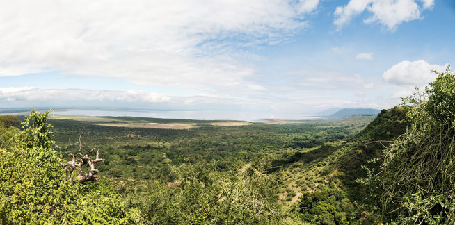 Blick auf den Lake Manyara