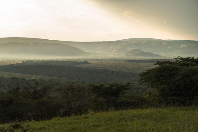 Stimmung zum Sonnenuntergang im Lake Mburo National Park