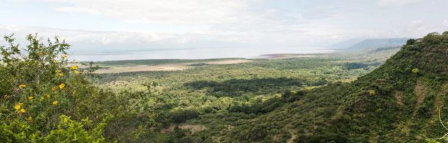 Blick über den Lake Manyara National Park