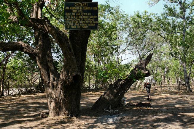 Chitake Campsite No. 1 am Ufer des Chitake River