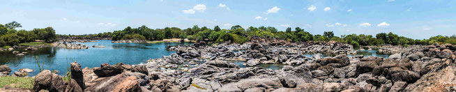 Kafue River Rapids an der KaingU Safari Lodge