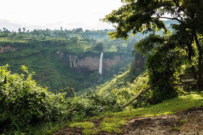 Blick von der Campsite zu den Sipi Falls