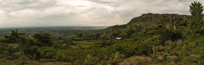 Ein Blick zurück von der Zufahrt nach Sipi