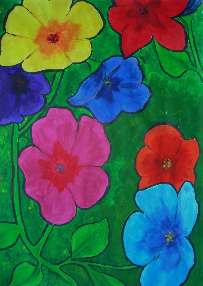 Acrylfarben auf Papier, 100 x 70cm