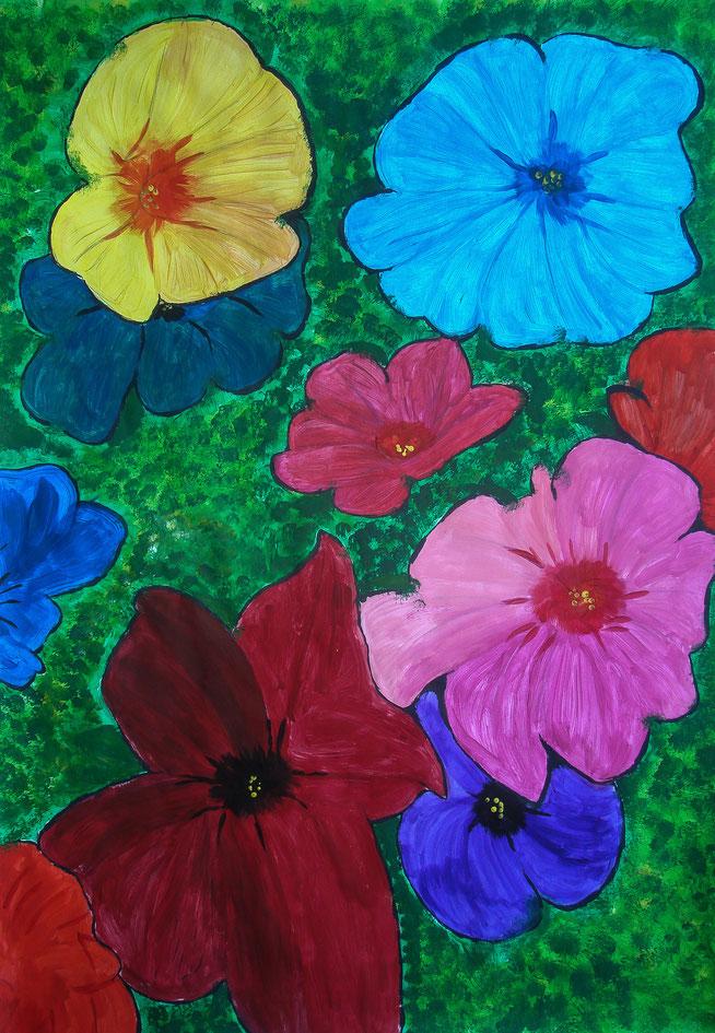 Acrylfarben auf Papier, 30 x 25cm
