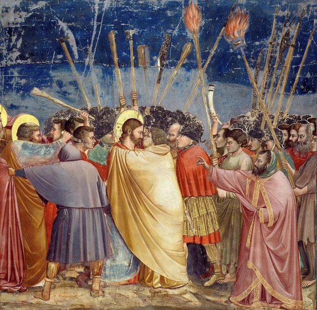 スクロヴェーニ礼拝堂にある『ユダの接吻』