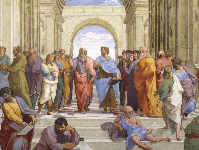 哲学的な理性によって真実を探ることが主題の『アテナイの学堂』