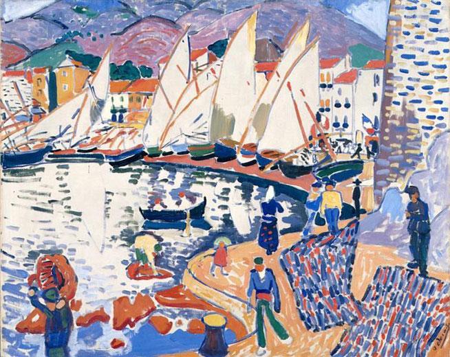 アンドレ・ドラン「乾燥中の帆」(1905年)。サロン・ドートンヌ展示作品。