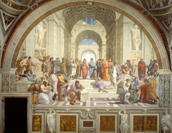 ラファエロ《アテナイの学堂》,1509-1511