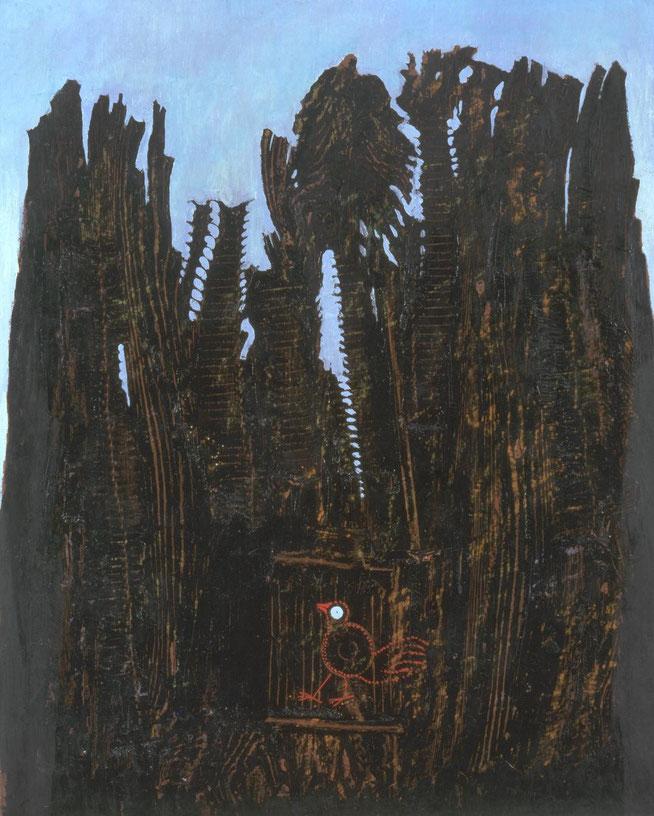 マックス・エルンスト「森と鳩」(1927年)