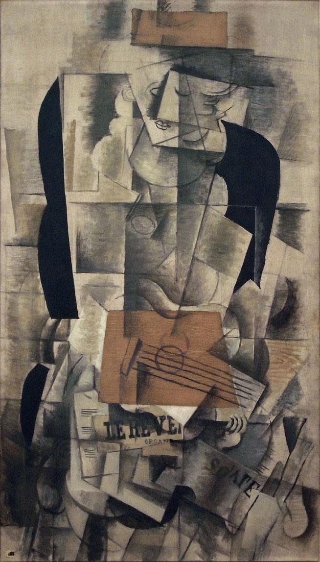 『ギターを弾く女性』(1913年)