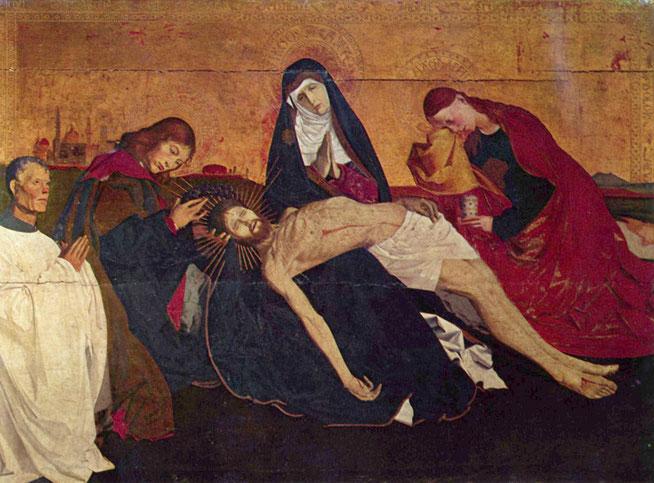 エンゲラン・クアルトン《ヴィルヌーヴ=レ=アヴィニョンのピエタ》,1455年